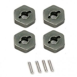 Atomik RC Alloy Wheel Hex Adaptor, Grey fits the Traxxas 1/16 Slash 4x4 and Other Traxxas Models - Replaces Traxxas Part 7154