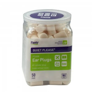 2 Pack Flents Quiet! Please Noise Reducing Ear Plugs with 2 Plastic Travel Jars (A 4.98 Value) - Total 100 Pair - NRR 29