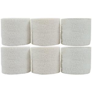 "Powerflex 2""  Stretch Athletic Tape - 6 Rolls, White"