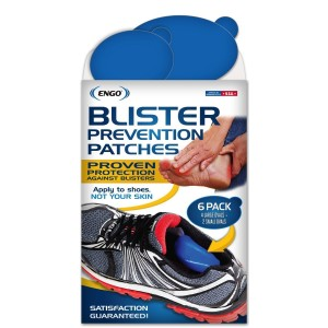 ENGO Oval Blister Prevention Patches (6 Pack). For Runners, Foot Pain, High Heels, Tennis Shoes, Athletes