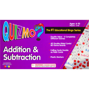 Learning Advantage 8239 QUIZMO Addition and Subtraction Card