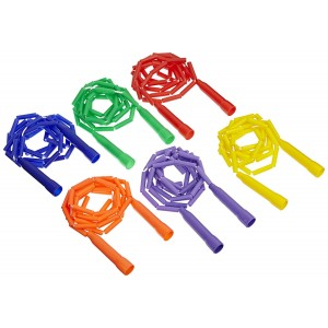 Sportime Grade Stuff Solid Color Link Jump Ropes - 8 feet - Set of 6