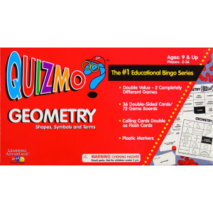Learning Advantage 8241 Quizmo Geometry, Shapes, Symbols and Terms, AGES: 9 and UP