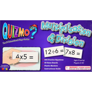 Learning Advantage 8243 QUIZMO Multiplication and Division Card