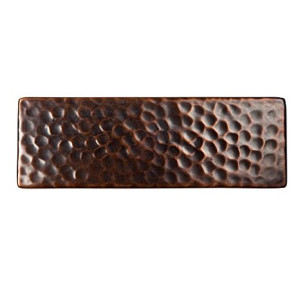 The Copper Factory CF145AN Solid Hammered Copper 6-Inch by 2-Inch Decorative Accent Tile, Antique Copper