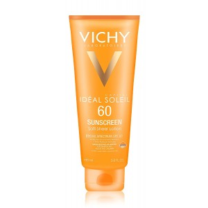 Vichy Idéal Capital Soleil SPF 60 Ultra-Light Body and Face Sunscreen with Antioxidants and Vitamin E, 5.0 Fl. Oz.