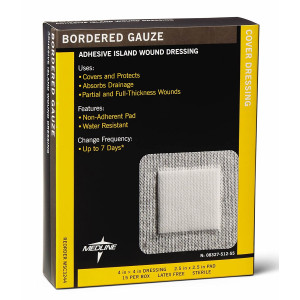 """Sterile Bordered Gauze, 4""""  x 4""""  (Pack of 15)"""