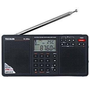 Tecsun PL398MP DSP Digital AM/FM/LW Shortwave Radio with Dual Speakers and MP3 Player, Black