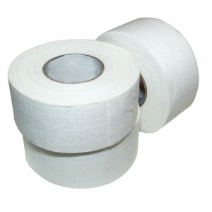 """Ringside Athletic Sport Trainers Boxing Muay Thai Kickboxing Extra Strong Cotton Tape 1""""  (White, 15 Rolls)"""