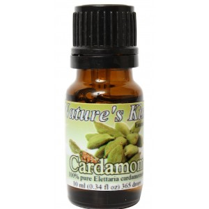 Nature's Kiss 100-Percent Pure Extremely Therapeutic Grade  Cardamom Essential Oil, 0.34-Ounce