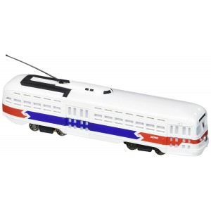 Bachmann Industries Pac Streetcar with Operating Headlight and Die-Cast Power Truck, Red, White and Blue