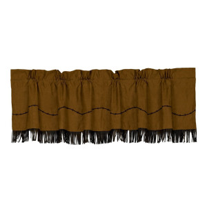 HiEnd Accents Fringed Barbwire Western Valance
