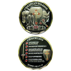 Christian Soldier Checklist Challenge Coin Ephesians Coin Religious Gifts