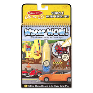 Melissa and Doug On the Go Water Wow! Water Reveal Pad: Vehicles - 4 Boards and Water Pen