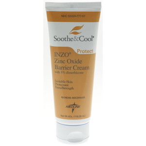 Medline Soothe and Cool Inzo Barrier Cream, 4 Ounce
