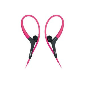 Sony MDR-AS400EX Active Series Sport Headphones, 9mm Driver, Pink