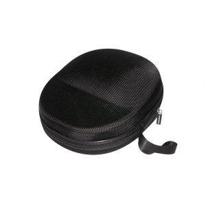 Sturdy Hard Shell Headphone Carrying Case, Headset Storage for Travel | Impact Protection for AKG, Audio Technica, Sony, Sennheiser, Turtle Beach and More | Black Ballistic Nylon, XL – Extra Large