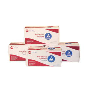 """First Voice TS-3254 4 Ply Non Sterile Non-Woven Sponge, 4""""  Length x 4""""  Width (Pack of 800)"""