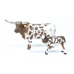 Big Country Farm Toys Longhorn Cow and Calf