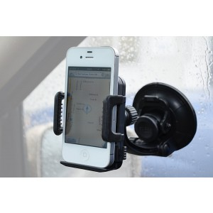 Heininger 1067 CommuteMate Black Window Suction Cell Phone Mount