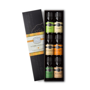 Autumn Set of 6 Premium Grade  Fragrance Oils - Brown Sugar, Apple, Harvest Spice, Vanilla, Forest Pine, Snickerdoodle - 10ml