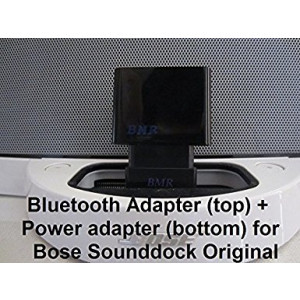 BMR A2DP Bluetooth Music Receiver + Power Adapter for Bose SoundDock I, Portable and Wave