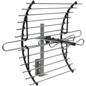 GE 33692 Attic Mount HD Antenna - Long Range - Compact Design with Mount for VHF / UHF Channels - 60 Mile Range