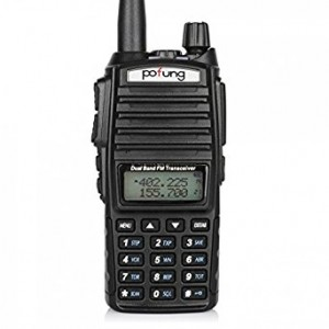 BaoFeng UV-82 Dual Band Two-Way Radio 136-174MHz VHF and 400-520MHz UHF (Black)
