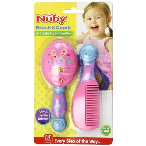 Nuby Brush and Comb Set, Colors May Vary