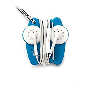Grapperz Earbud Holder / Protector / Cord Wrap - Cyan