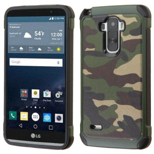 Asmyna Phone Case for LG LS770 (G Stylo) - Retail Packaging - Black/Green