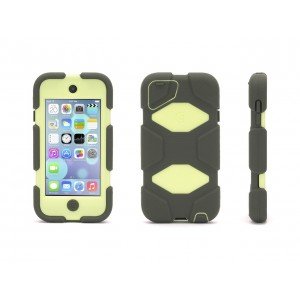 Griffin Olive/Lime Survivor All-Terrain Case + Belt Clip for iPod touch (5th/ 6th gen.) - Extreme-duty case