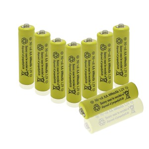 GEILIENERGY Perfect Home Station - 8 Piece Set AA NiCd 600mAh 1.2V Rechargeable Battery