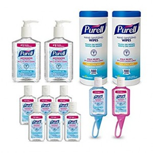 PURELL 9652-K1 Advanced Hand Sanitizer and Sanitizing Wipe Kit