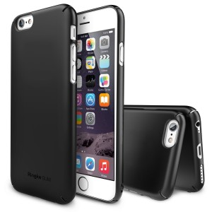 iPhone 6 Case, Ringke [SLIM] Snug-Fit Slender [Tailored Cutouts][1 FREE HD Screen Protector][SF BLACK] Lightweight and Thin Scratc