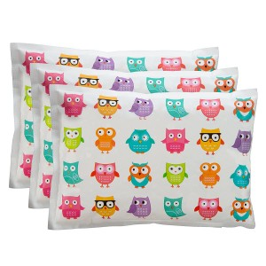 """Ice Pack for Lunch Boxes (3 Pack) by Bentology (6"""" x4.5"""" ) - Owl Design"""