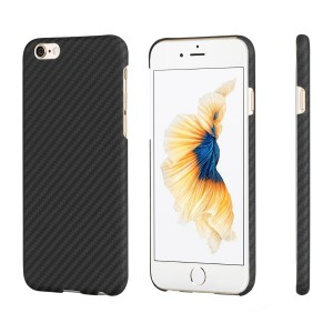 Minimalist iPhone 6/iPhone 6s Magcase,PITAKA Aramid Fiber[Body Armor Material] Phone Case,Ultra Thin(0.03in)Lightest(0.42oz)Strongest Durable Snugly Fit Snap-on Case for iPhone 6/6s-Black/Grey(Twill)