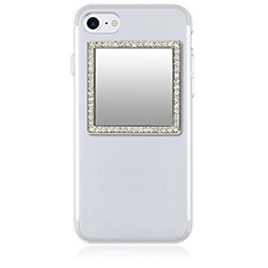 iDecoz Phone Mirror / Reusable Cosmetic Compact Unbreakable Real Mirror Sticks to ALL Cell Phones and Cases / iPhone 7 / 7 Plus / 6 / 6 Plus / 6s / 6s Plus / 5 / 5s / 5c / SE / Samsung Galaxy and more!