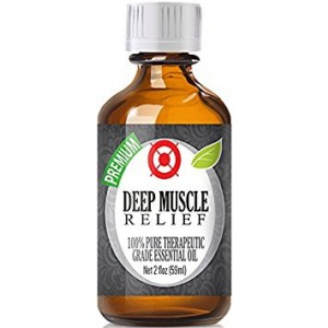 Deep Muscle Relief Blend 100% Pure, Best Therapeutic Grade  Essential Oil -60ml / 2 (oz) Ounces - Comparable to DoTerra's Deep Blue and Young Living's PanAway Blend - Wintergreen, Peppermint, Chamomile Blue, Eucalyptus, Camphor