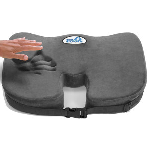 Premium Memory Foam Seat Cushion for Office Chair, Wheelchair, Car Seat, Best for Lower Back Pain, Sciatica, with Stay n Place Strap by Dr. Tushy