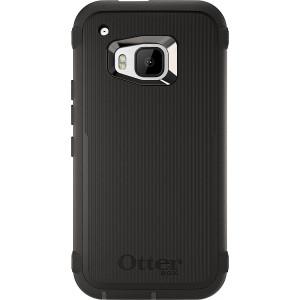 OtterBox Defender Case for HTC One M9 - Retail Packaging - Black (Black/Black)