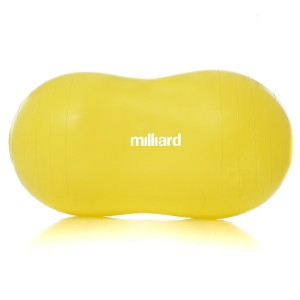 "Milliard Anti-Burst Peanut Ball Approximately 35x17""  (90x45cm) Physio Roll for Exercise, Therapy, Labor Birthing and Dog Training"
