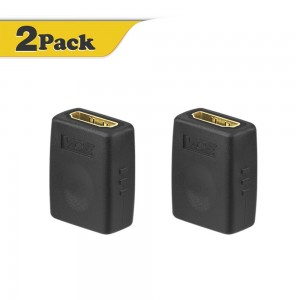 VCE (2 PACK) HDMI Female to Female Adapter Gold Plated High Speed HDMI Female Coupler 3Dand4K Resolution