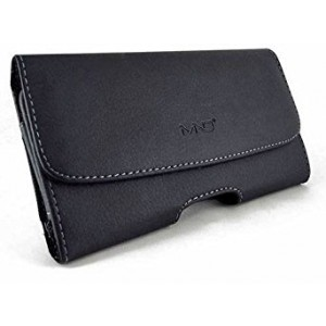 """Premium Horizontal Leather Carrying Case Pouch Holster for Apple iPhone 6S, iPhone 7, iPhone 8 (4.7"""" ), with Belt Clip and Belt Loops (Size will Fit Phone with a Thin Skin or Slim Cover on)"""