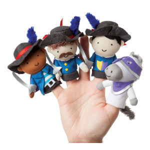 Manhattan Toy Storytime Finger Puppets Musketeer Mates Plush