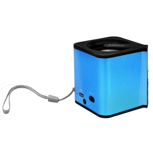Coby Portable Bluetooth Speaker with Wrist Strap (Blue)