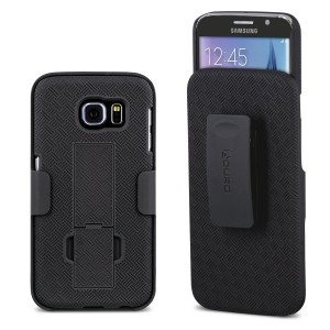 Galaxy S6 Case, Aduro Shell and Holster COMBO Case Super Slim Shell Case w/ Built-In Kickstand + Swivel Belt Clip Holster for Samsung Galaxy S6