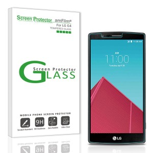amFilm LG G4 Tempered Glass Screen Protector, 2.5D Rounded Edge for LG G4 LGG4 2015 (1-Pack)