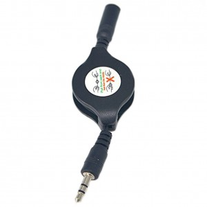 Retractable 3.5mm Stereo Male Plug to 3.5mm Female Jack Cable Connector Pack of 2