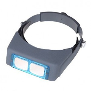 PHYHOO Double Lens Head-mounted Headband Reading Magnifier Loupe Head Wearing 4 Magnifications